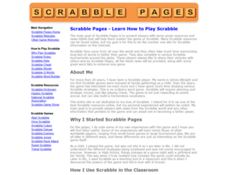 scrabblepages.com screenshot