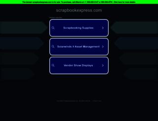 scrapbookexpress.com screenshot
