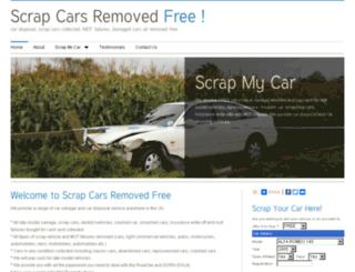 scrapcarsremovedfree.co.uk screenshot