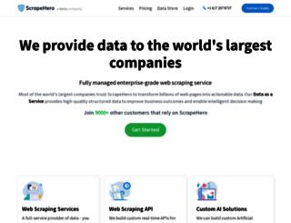 scrapehero.com screenshot