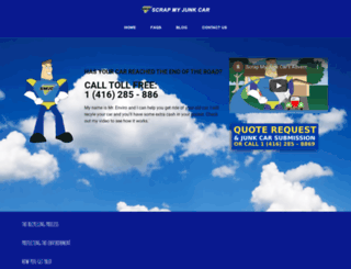 scrapmyjunkcar.com screenshot