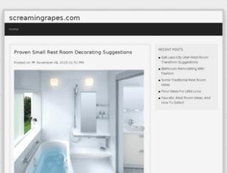 screamingrapes.com screenshot