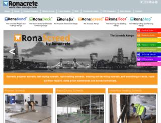 screeds.ronacrete.co.uk screenshot