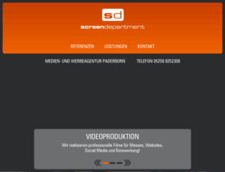 screendepartment.de screenshot