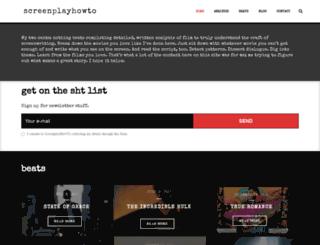 screenplayhowto.com screenshot