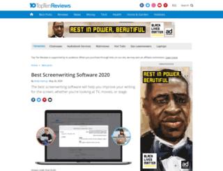 screenwriting-software-review.toptenreviews.com screenshot