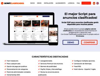 scriptclasificados.com screenshot