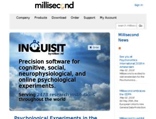 scripts.millisecond.com screenshot