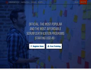 scrum-institute.org screenshot