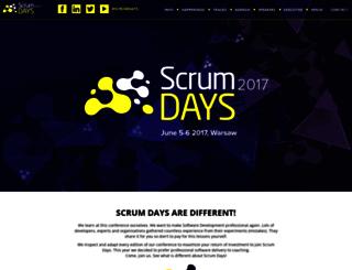 scrumdays.pl screenshot