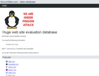 scrumsites.com screenshot