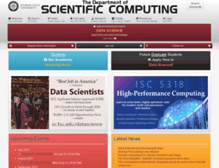 scs.fsu.edu screenshot