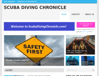 scubadivingchronicle.com screenshot