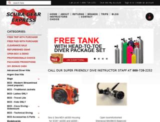 scubagearexpress.com screenshot