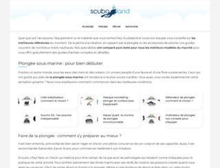 scubaland.fr screenshot