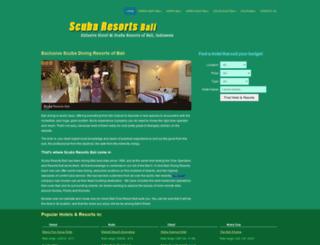 scubaresortsbali.com screenshot