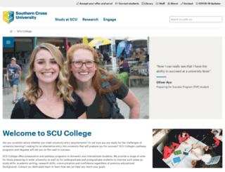 scucollege.scu.edu.au screenshot