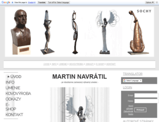sculpture.wgz.cz screenshot
