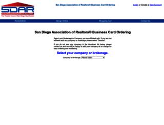 sdar.managebusinesscards.com screenshot