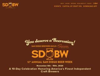 sdbw.org screenshot