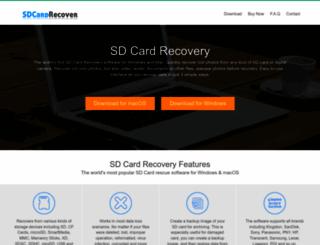 sdcardrecover.com screenshot