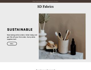 sdfabrics.com screenshot