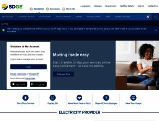 sdge.com screenshot