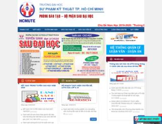 sdh.hcmute.edu.vn screenshot