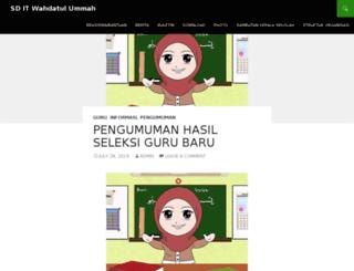 sdit.wahdatulummah.org screenshot