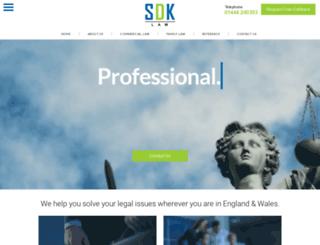 sdk-law.co.uk screenshot