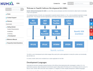 sdk.numxl.com screenshot