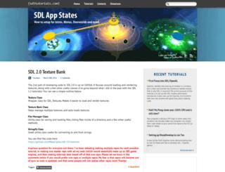 sdltutorials.com screenshot