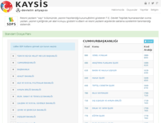 sdp.kaysis.gov.tr screenshot