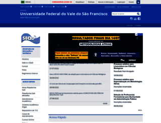 sead.univasf.edu.br screenshot