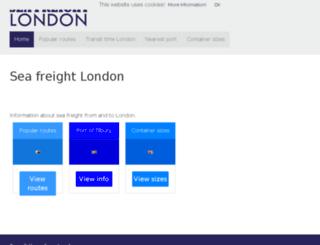 seafreightlondon.com screenshot