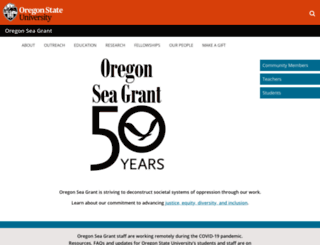 seagrant.oregonstate.edu screenshot