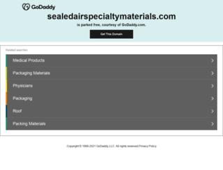 sealedairspecialtymaterials.com screenshot