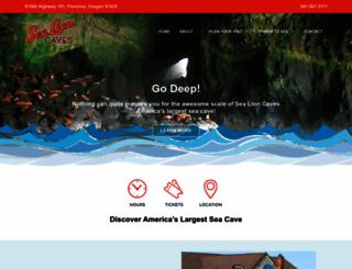 sealioncaves.com screenshot
