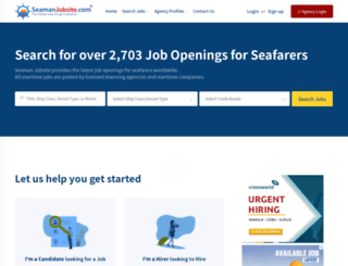 seamanjobsite.com screenshot