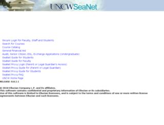 seanet.uncw.edu screenshot