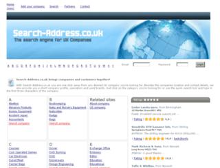 search-address.co.uk screenshot