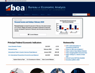 search.bea.gov screenshot