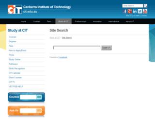 search.cit.edu.au screenshot