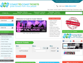 search.coasttocoasttickets.com screenshot