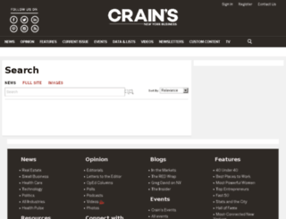 search.crainsnewyork.com screenshot