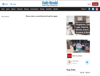 search.dailyherald.com screenshot