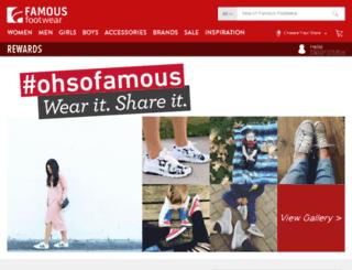 search.famousfootwear.com screenshot