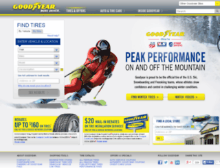 search.goodyear.com screenshot