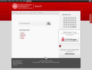 search.ilstu.edu screenshot