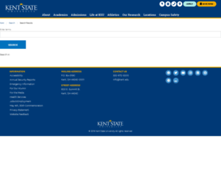 search.kent.edu screenshot